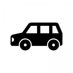 自動車・コンパクトカーの白黒シルエットイラスト02