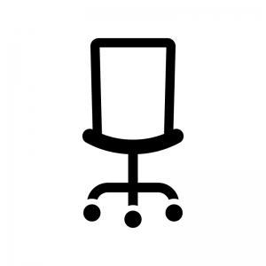 事務椅子の白黒シルエットイラスト02