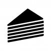 ミルフィーユの白黒シルエットイラスト