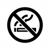 禁煙マークの白黒シルエットイラスト