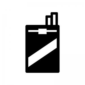 タバコの白黒シルエットイラスト