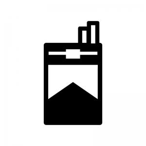 タバコの白黒シルエットイラスト02