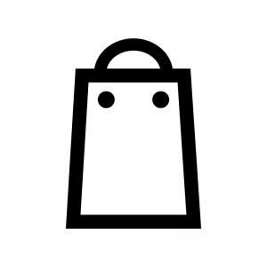 買い物袋の白黒シルエットイラスト02