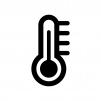温度計の白黒シルエットイラスト03