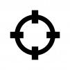 ロックオンの白黒シルエットイラスト