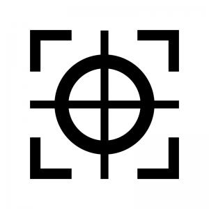 ロックオンの白黒シルエットイラスト02