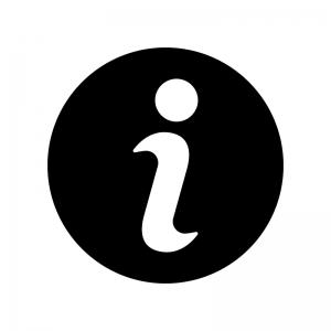 インフォマークの白黒シルエットイラスト02