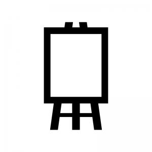 ウエルカムボードの白黒シルエットイラスト