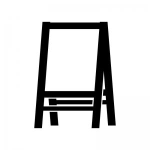 ウエルカムボードの白黒シルエットイラスト02