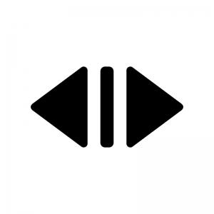 エレベーターの開らくマークの白黒シルエットイラスト02