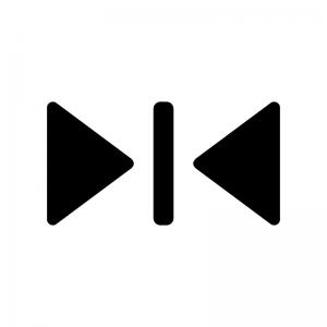 エレベーターの閉じるマークの白黒シルエットイラスト02