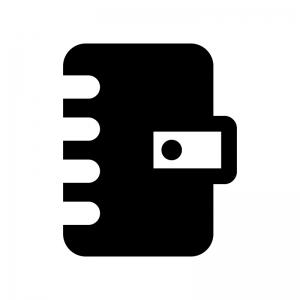 手帳の白黒シルエットイラスト02