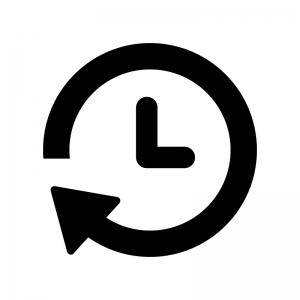 タイマー時計の白黒シルエットイラスト02