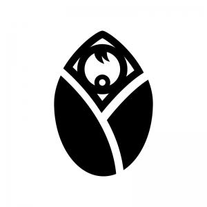 赤ちゃんの白黒シルエットイラスト02