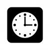 時計の白黒シルエットイラスト04