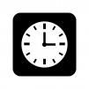 時計の白黒シルエットイラスト05