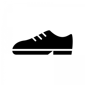 靴の白黒シルエットイラスト