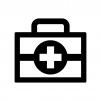 救急箱の白黒シルエットイラスト04