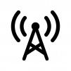 電波・アンテナの白黒シルエットイラスト02