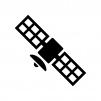 人工衛星の白黒シルエットイラスト02