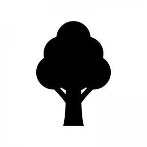 木のシルエット 無料のaipng白黒シルエットイラスト