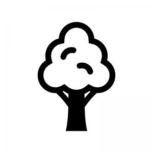 木の白黒シルエットイラスト02