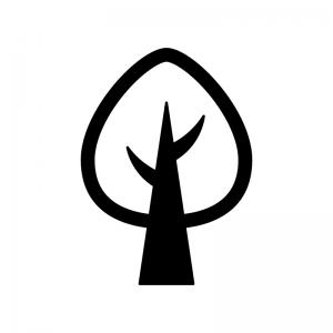 木の白黒シルエットイラスト03