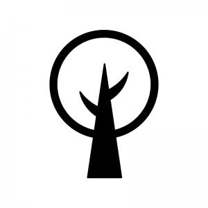 木の白黒シルエットイラスト04