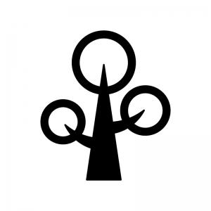 木の白黒シルエットイラスト05