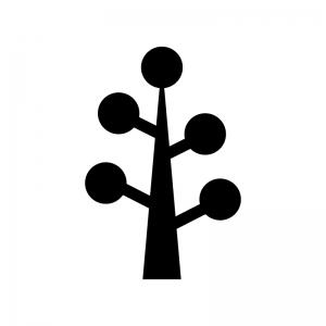 木の白黒シルエットイラスト06
