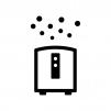 空気清浄機の白黒シルエットイラスト02
