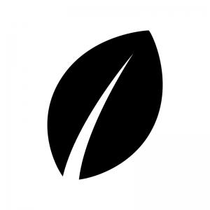 葉っぱ・植物の白黒シルエットイラスト