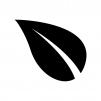葉っぱ・植物の白黒シルエットイラスト02