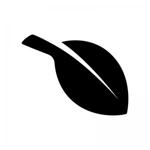 葉っぱ・植物の白黒シルエットイラスト03