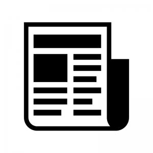 新聞の白黒シルエットイラスト04