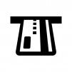 ATMにキャッシュカードを入れる白黒シルエットイラスト03