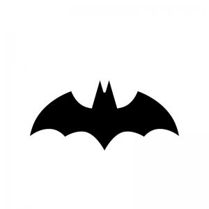 コウモリの白黒シルエットイラスト