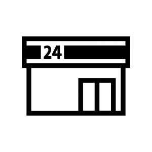 コンビニエンスストアのシルエット 無料のaipng白黒シルエットイラスト