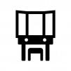 化粧台・鏡台の白黒シルエットイラスト02