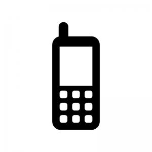 ガラケー・モバイル端末の白黒シルエット