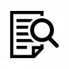 書類検索の白黒シルエットイラスト03