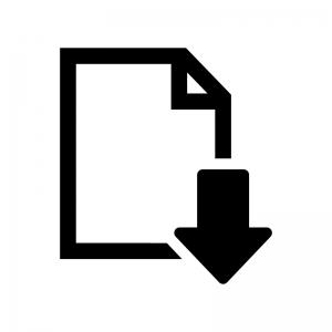 ファイルをダウンロードの白黒シルエットイラスト
