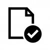 ファイルをチェックの白黒シルエットイラスト