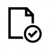ファイルをチェックの白黒シルエットイラスト02