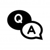 QAの吹き出しの白黒シルエットイラスト06