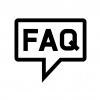 FAQの吹き出しの白黒シルエットイラスト02