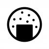 ごま煎餅の白黒シルエットイラスト