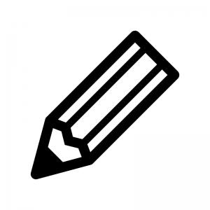 鉛筆・ペンの白黒シルエットイラスト03