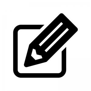 鉛筆・ペンの白黒シルエットイラスト05