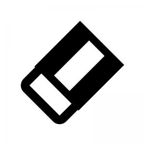 消しゴムの白黒シルエットイラスト03